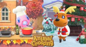 Franklin y Renato Invierno Animal Crossing New Horizons
