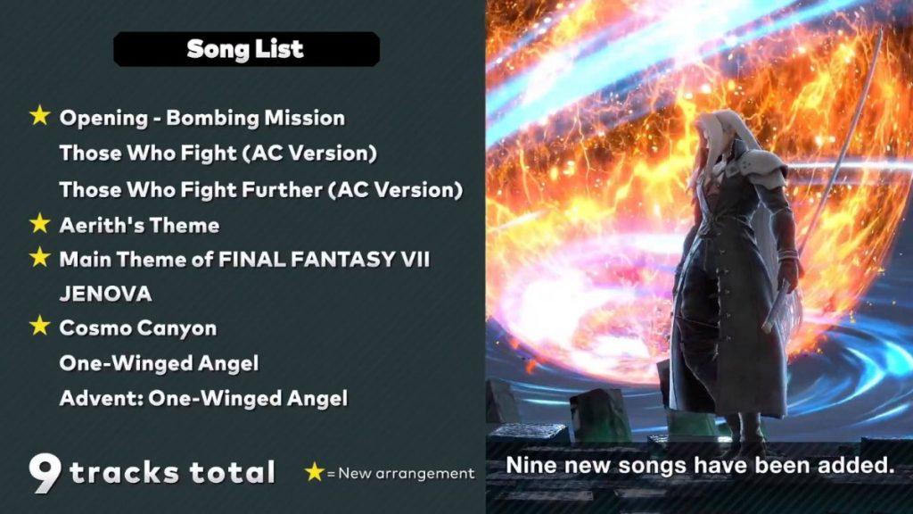 Nuevas canciones Smash Bros Ultimate 10.0.0