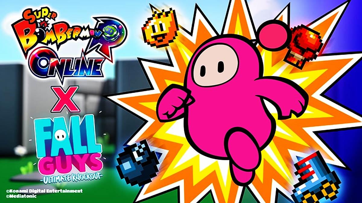 Bomberman crossover Fall Guys